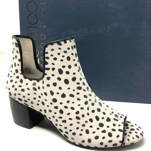 New LOGO LORI GOLDSTEIN Gioia ankle boots leopard